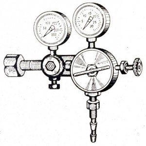 Баллонный двухступенчатый (двухкамерный) редуктор РДС-50.